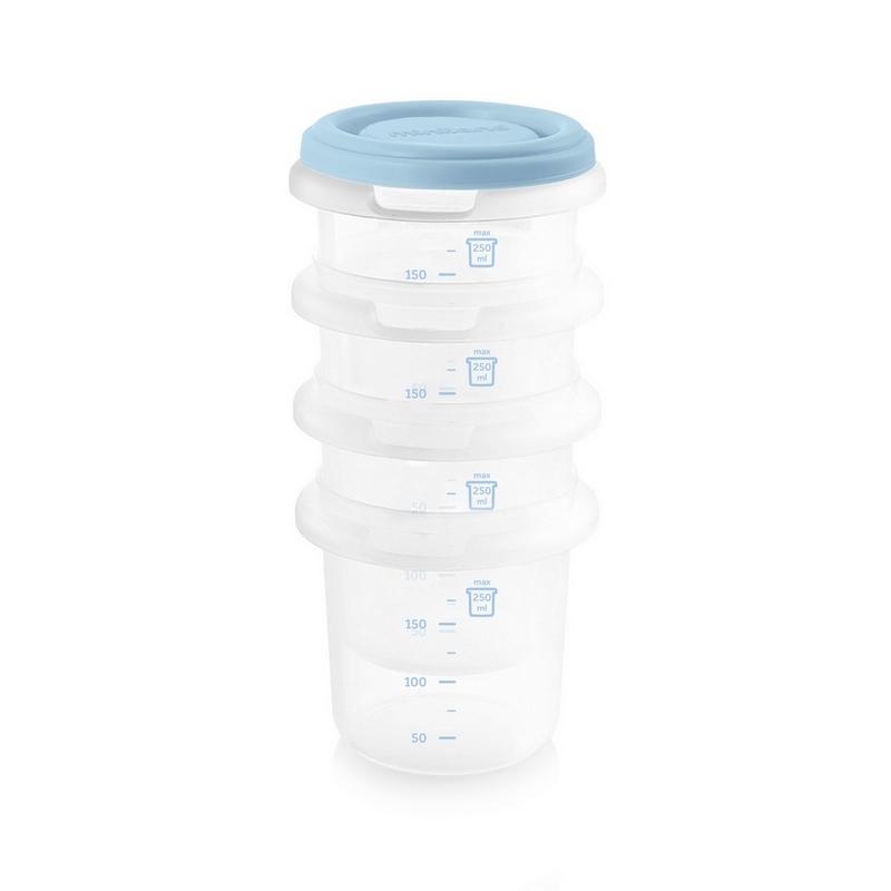 Matburkar för barnmat Miniland Hermisized ljusblå 4-pack