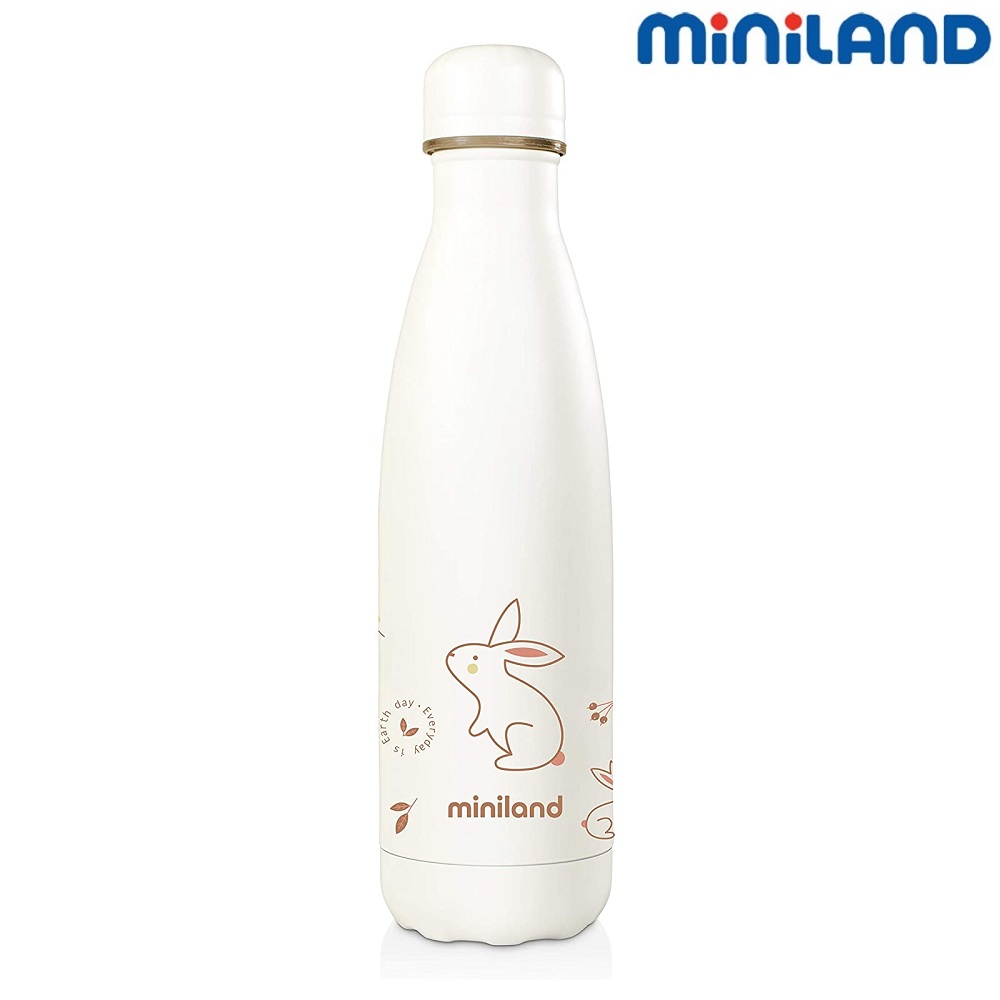 Liten rostfri termos Miniland Nature Bunny