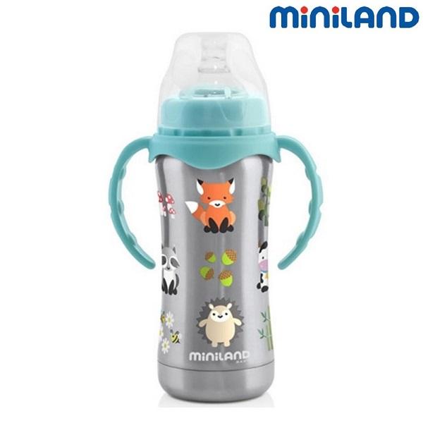 Miniland rostfri nappflaska - Thermobaby