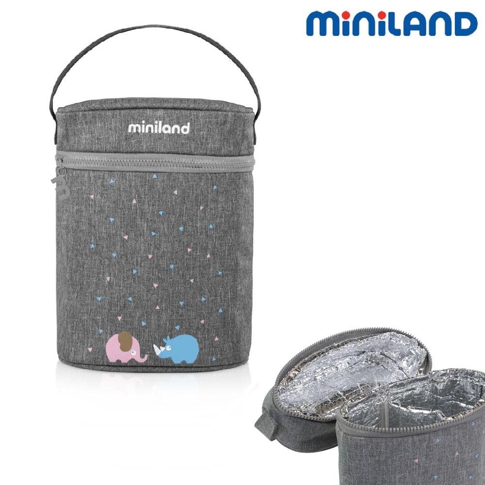 Kylisolerväska Miniland Thermobag för 2 flaskor grå