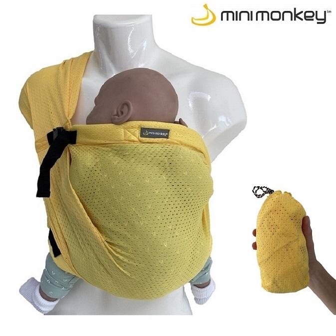 Minimonkey bärsjal - Mini Sling gul