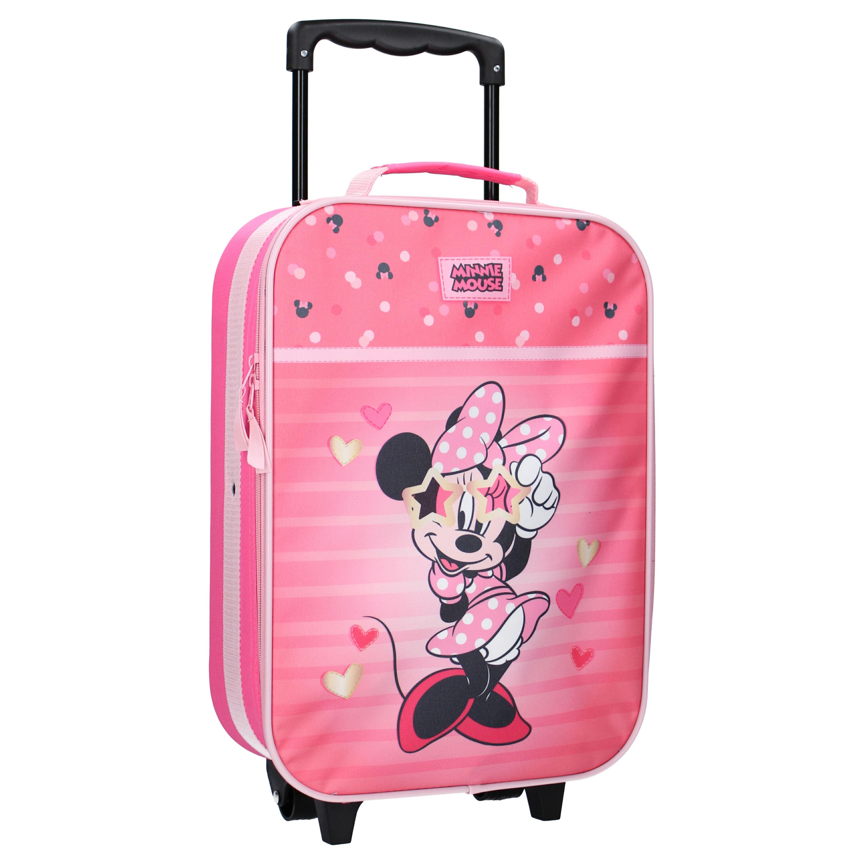 Liten resväska barn Minnie Mouse Looking Faboulous rosa