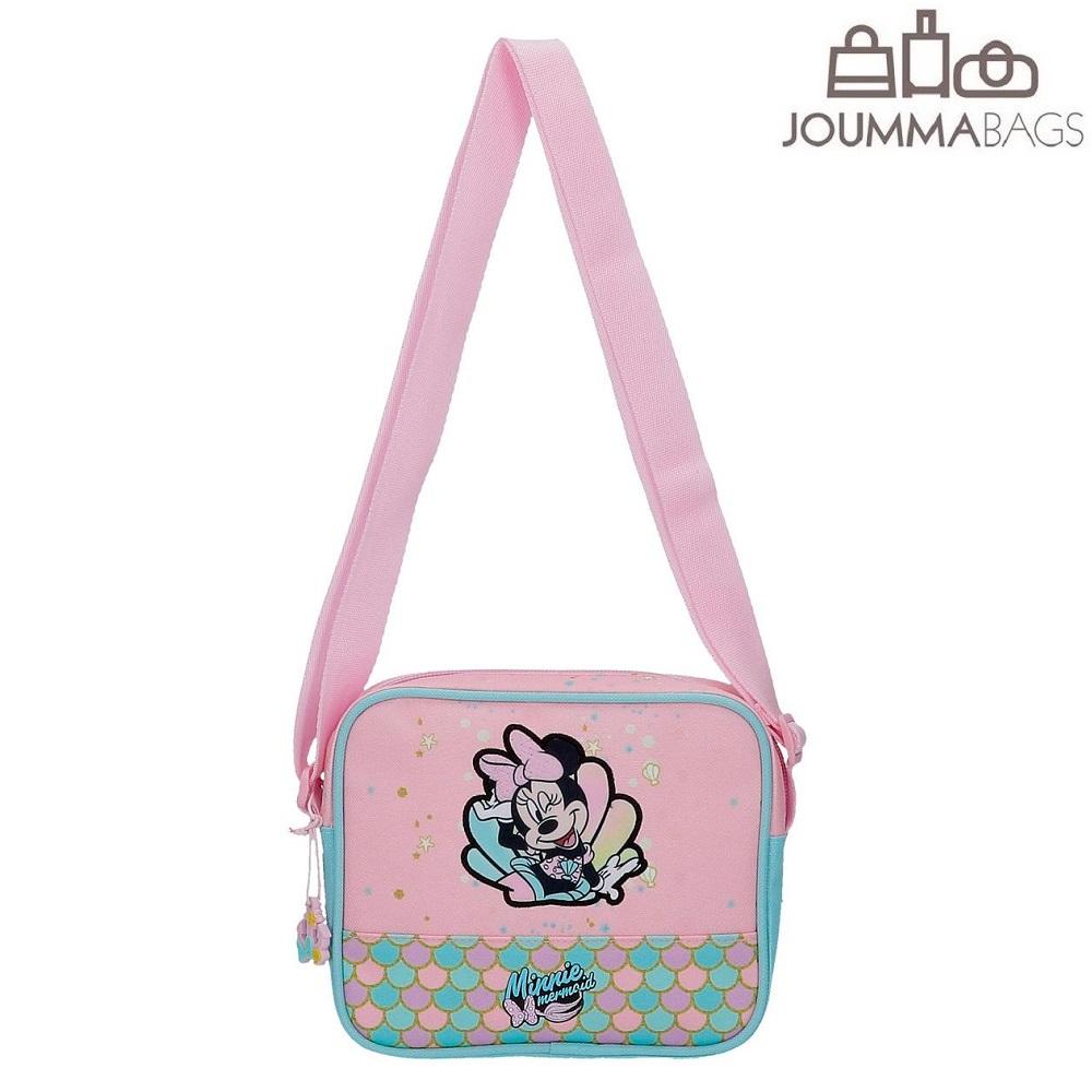 Handväska för barn Minnie Mouse Mermaid rosa och turkos