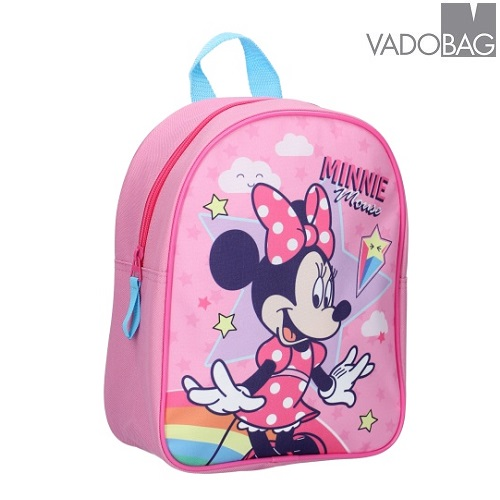 Barnryggsäck Minnie Mouse Stars and Rainbows rosa