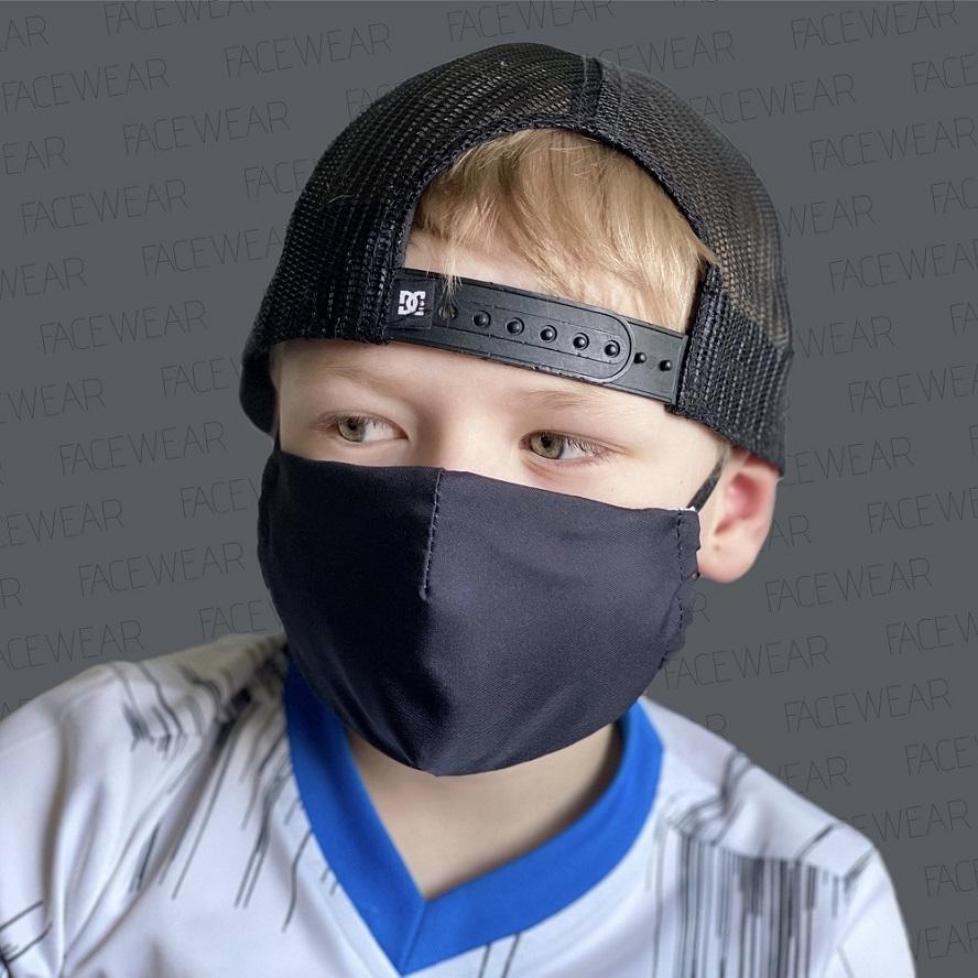 Munskydd barn Facewear svart