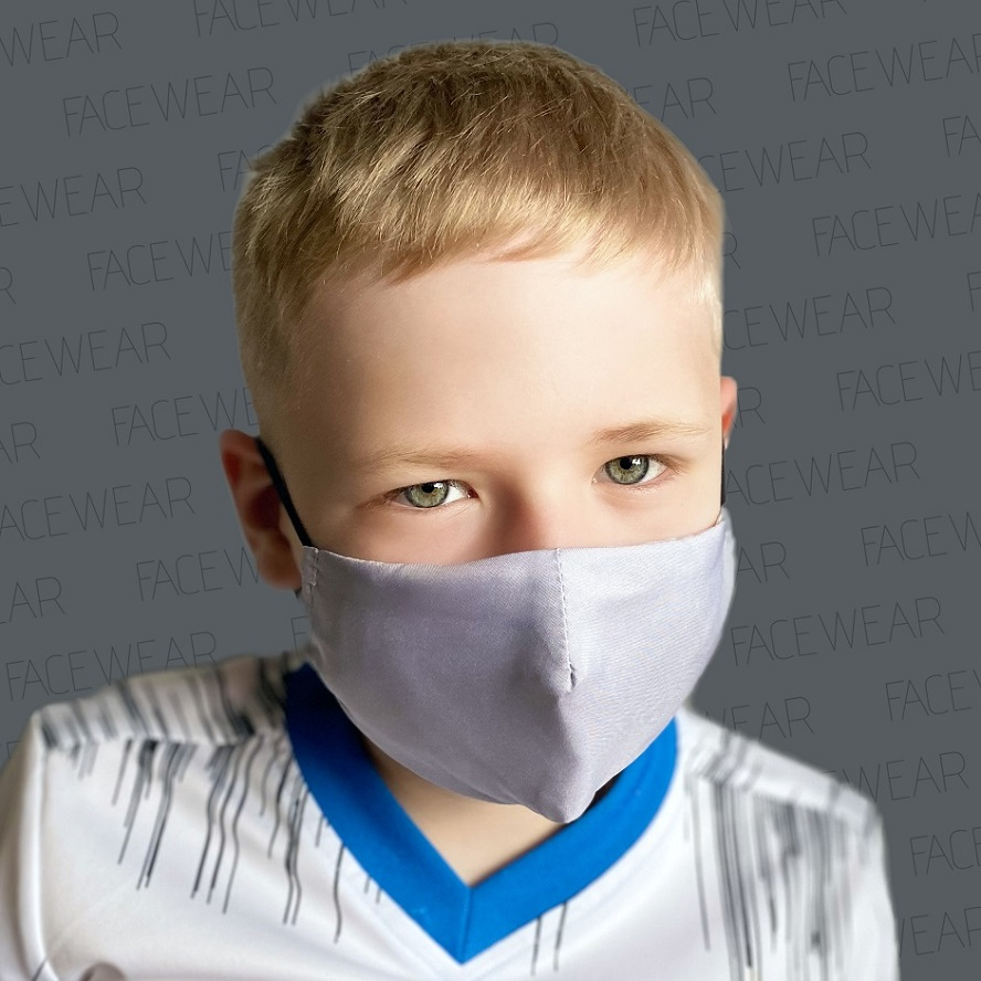 Munskydd barn Facewear grå
