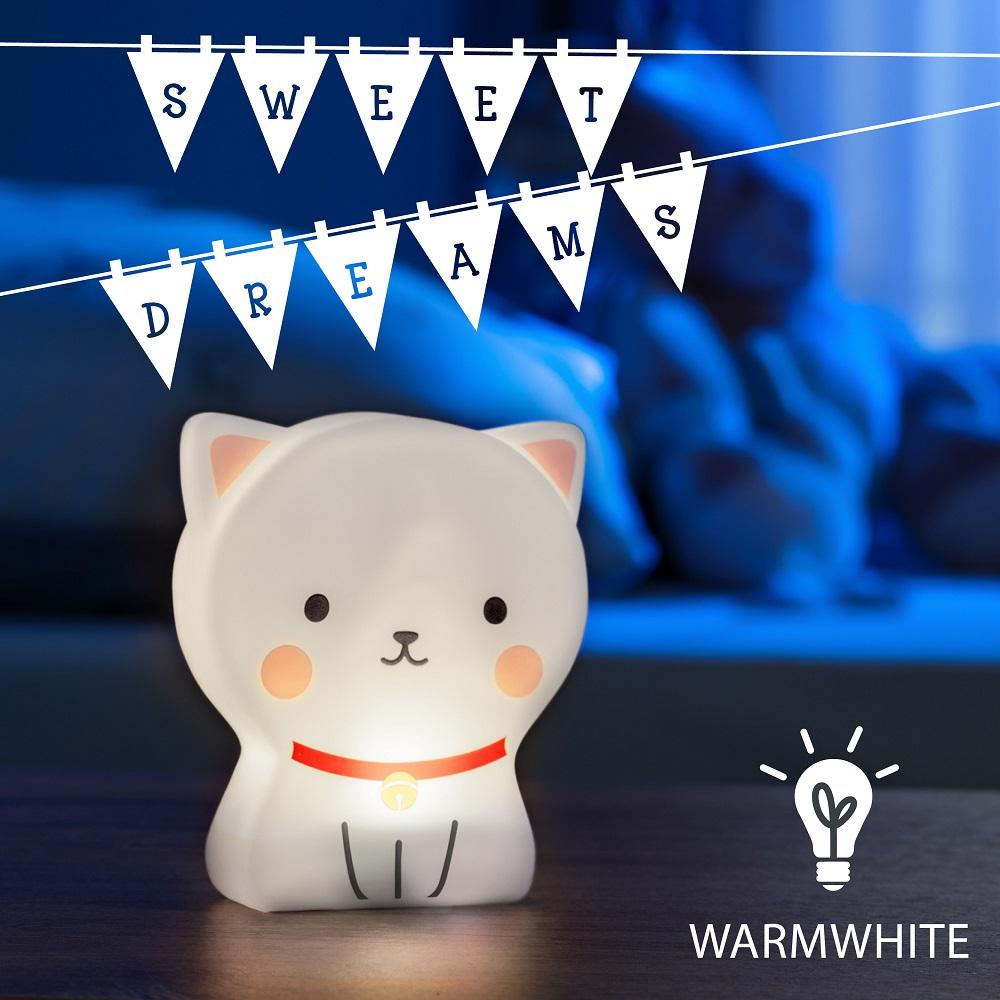 Nattlampa för barn Cute Friends Cat