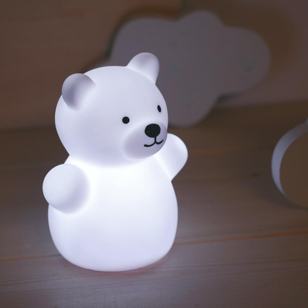 Nattlampa för barn Mini Zoo Bear