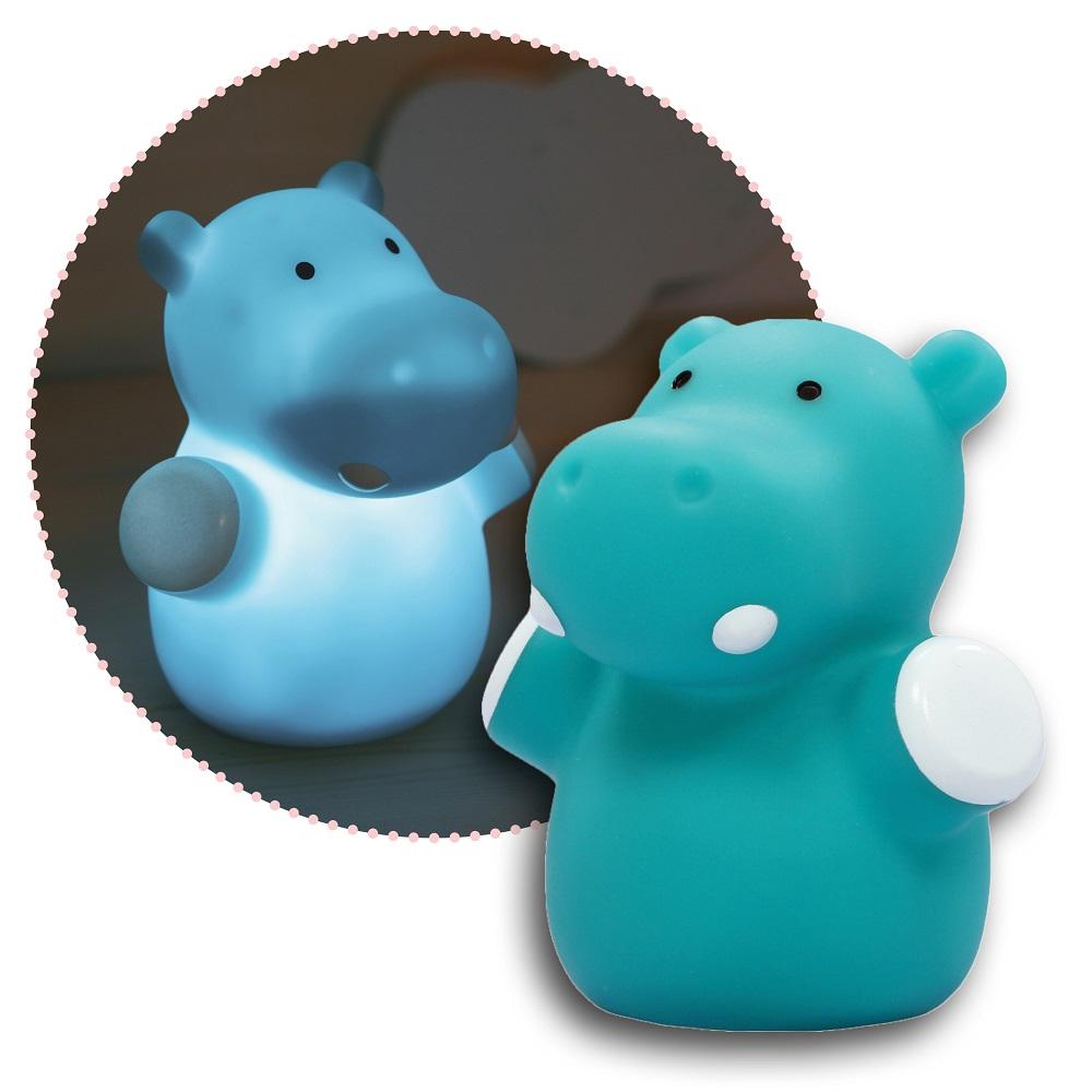 Nattlampa för barn Mini Zoo Hippo