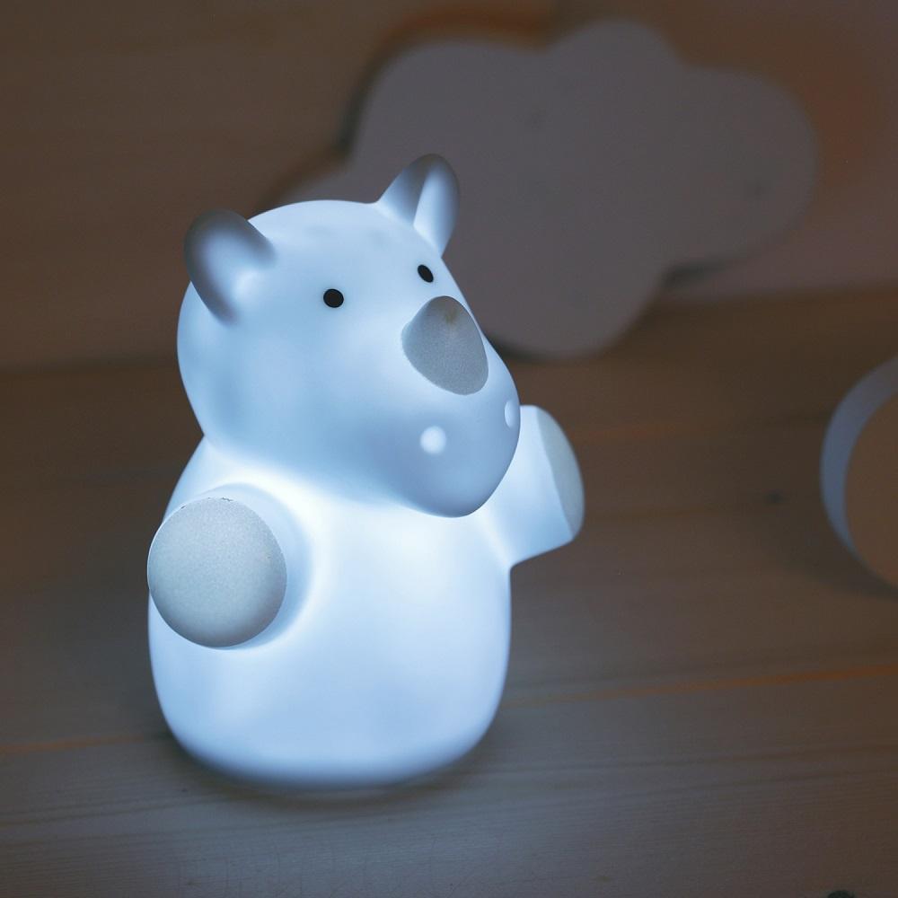 Nattlampa för barn Mini Zoo Rhino
