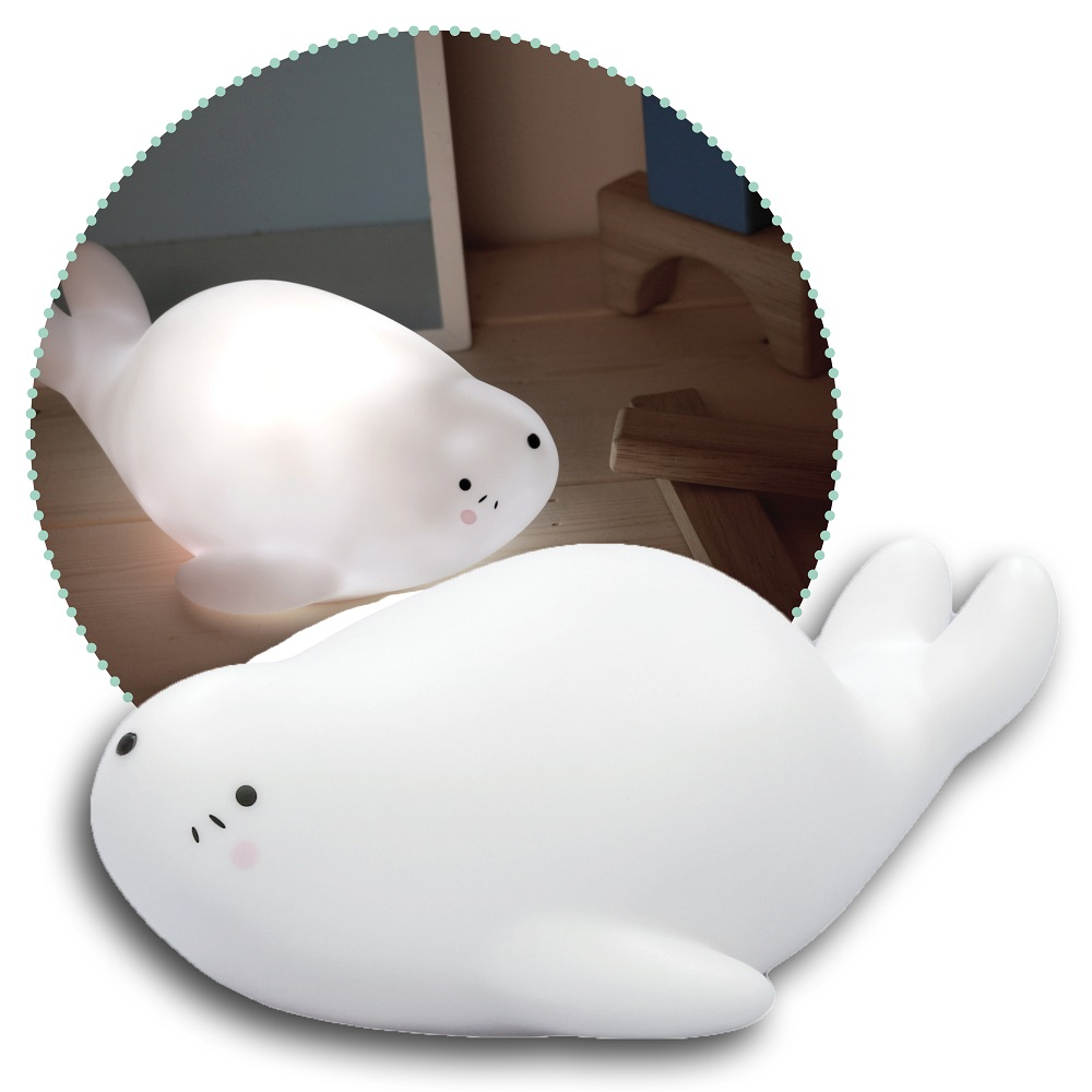 Nattlampa för barn Lazy Friends Seal