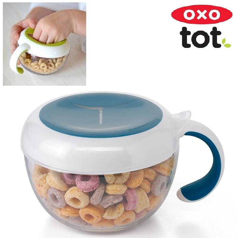 Snacksburk OXO-Tot Flippy Snack Cup Navy