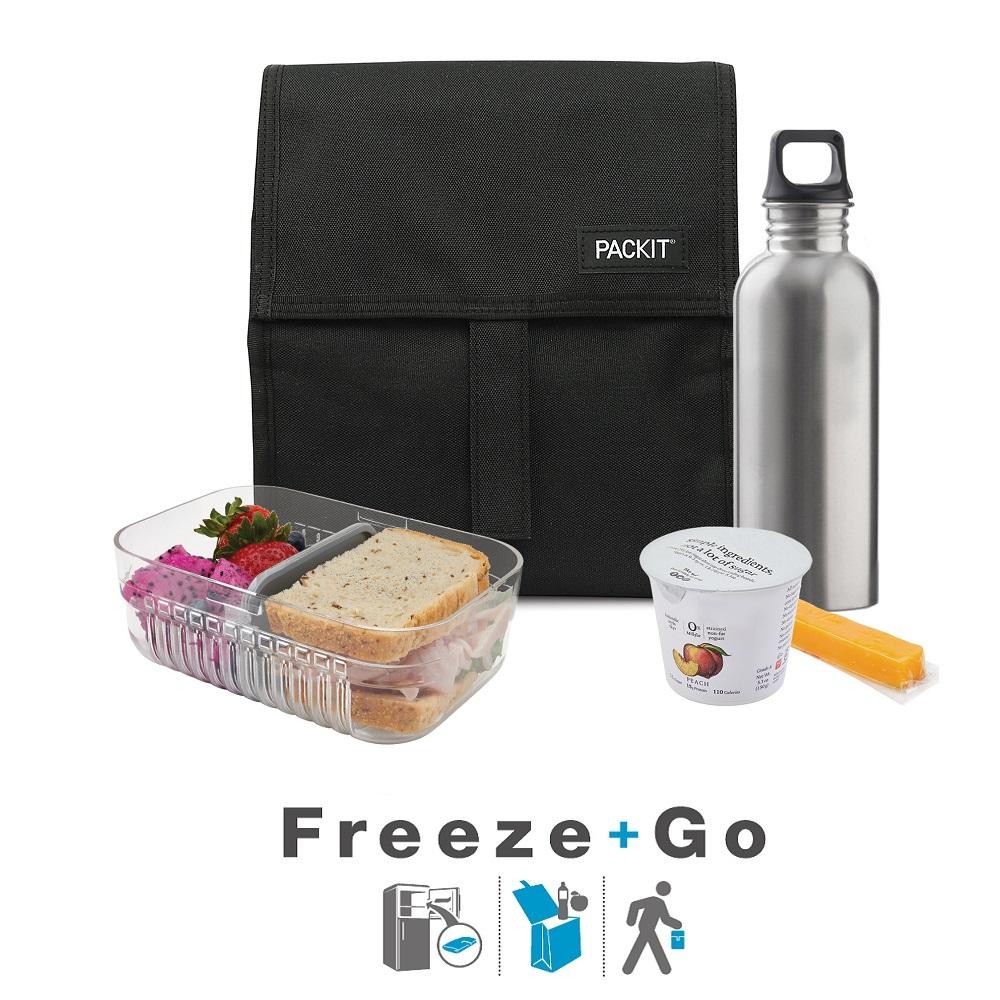 Liten kylväska Packit Lunch Bag svart