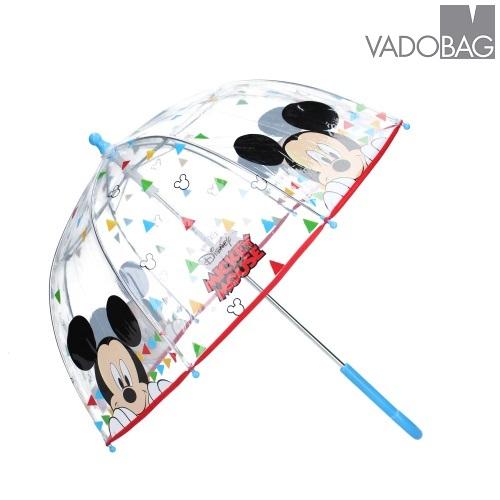 Paraply barn genomskinligt Musse Pigg