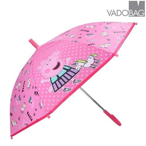 Paraply barn Peppa Pig Don´t Worry About the Rain rosa