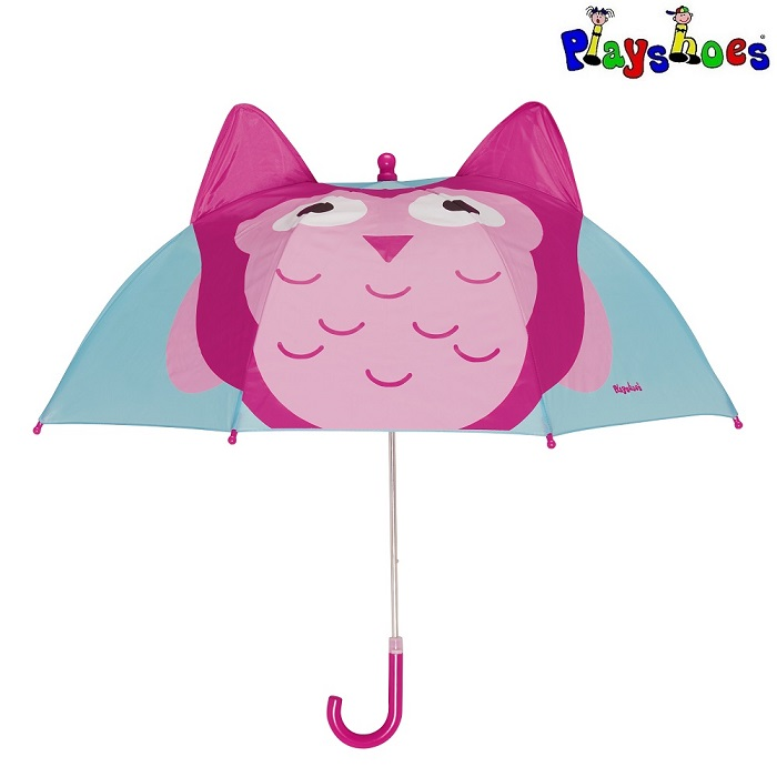 Paraply barn Playshoes ugga rosa och turkos