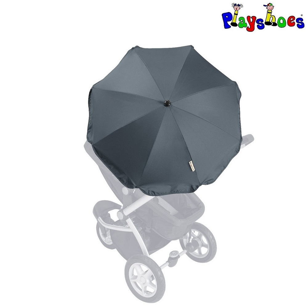 Barnvagnsparasoll Playshoes Mörkblå