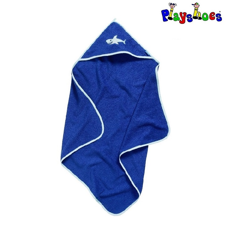 Badponcho barn Playshoes Shark Blå