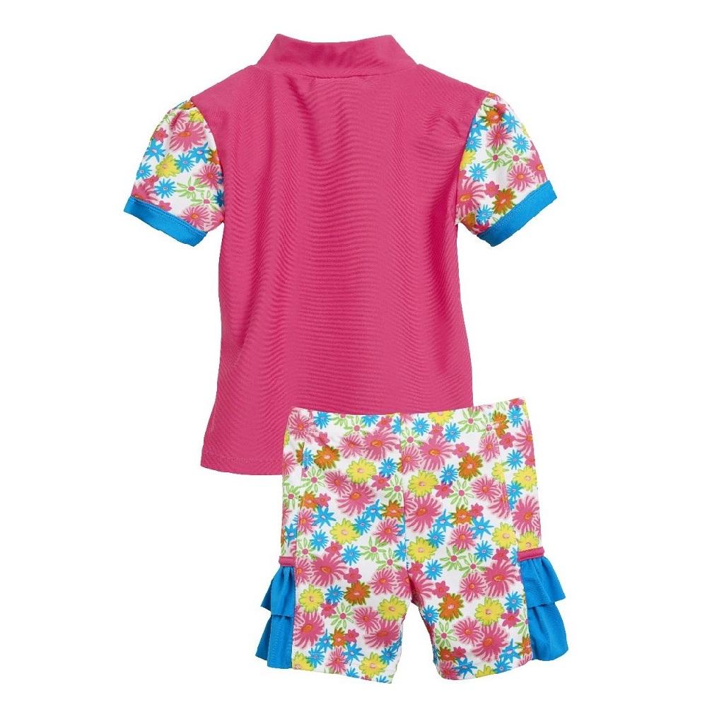 UV-tröja och UV-byxor Playshoes Pink Flowers