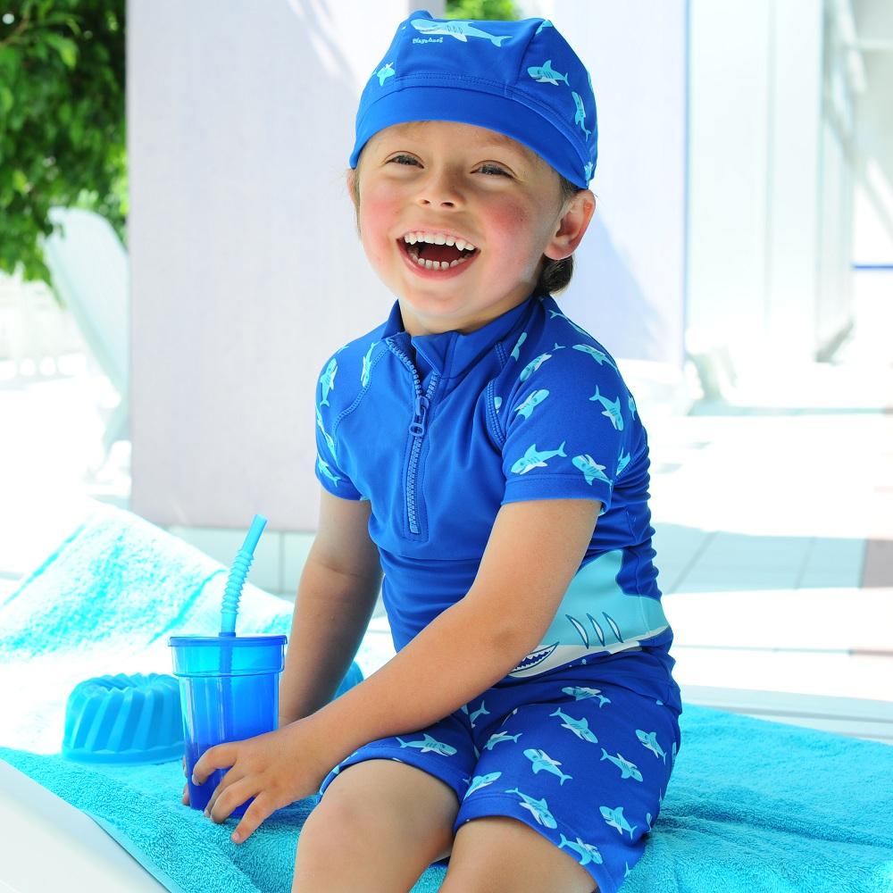 UV-tröja och UV-byxor Playshoes Blue Shark