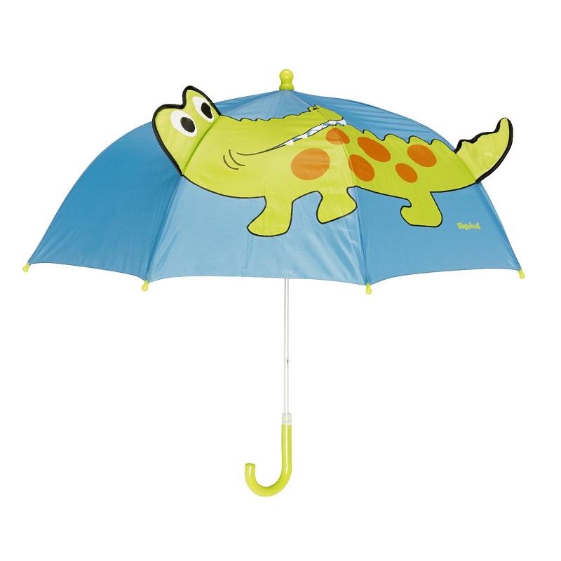 Paraply barn Playshoes Blått med grön krokodil