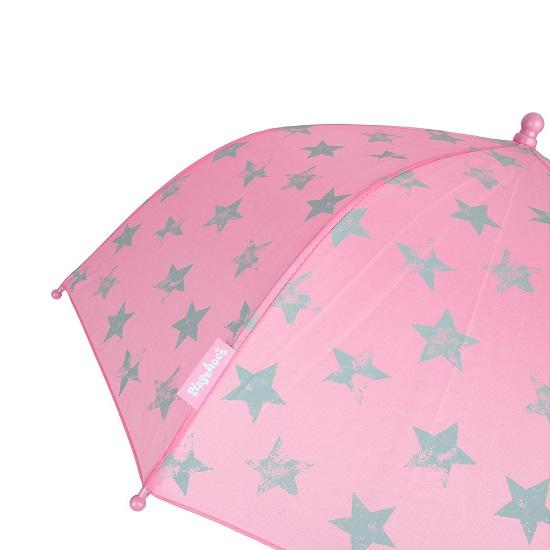 Paraply barn Playshoes Rosa med stjärnor