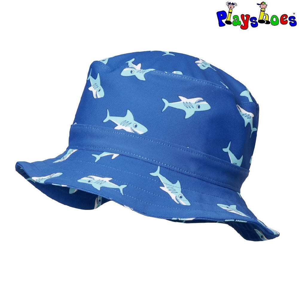 Solhatt barn Playshoes Blue Shark