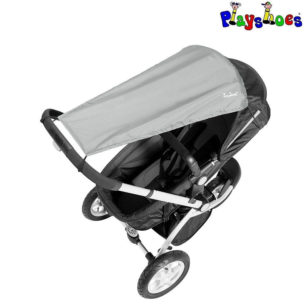 Solskydd barnvagn Playshoes Grå