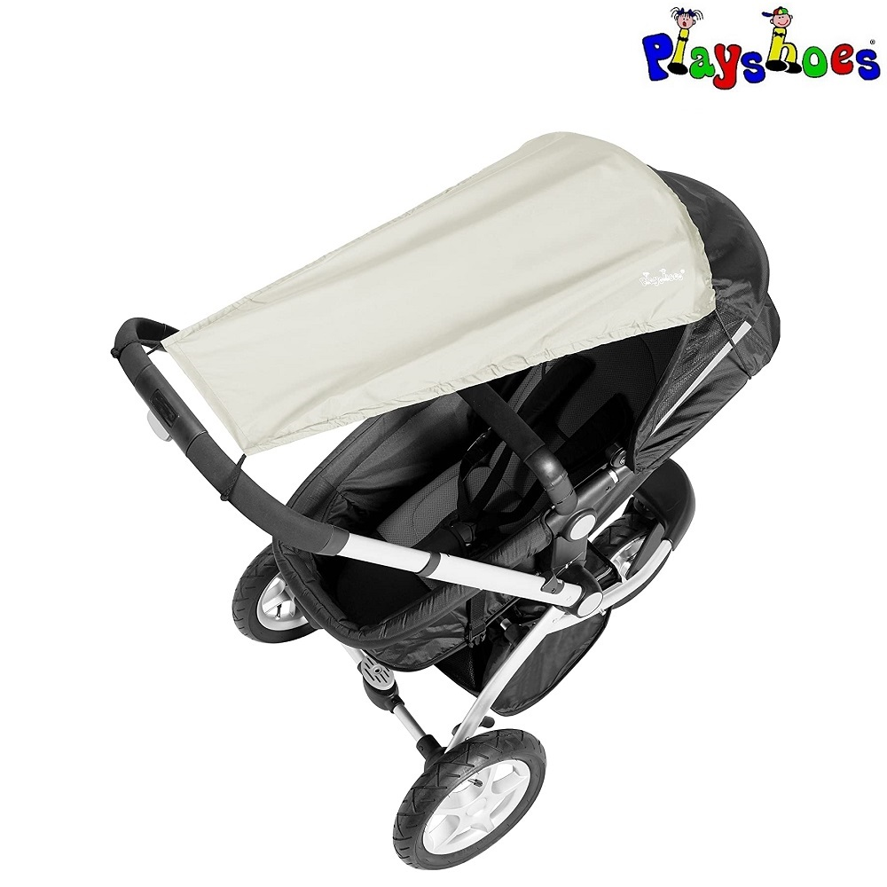 Solskydd barnvagn Playshoes Natur