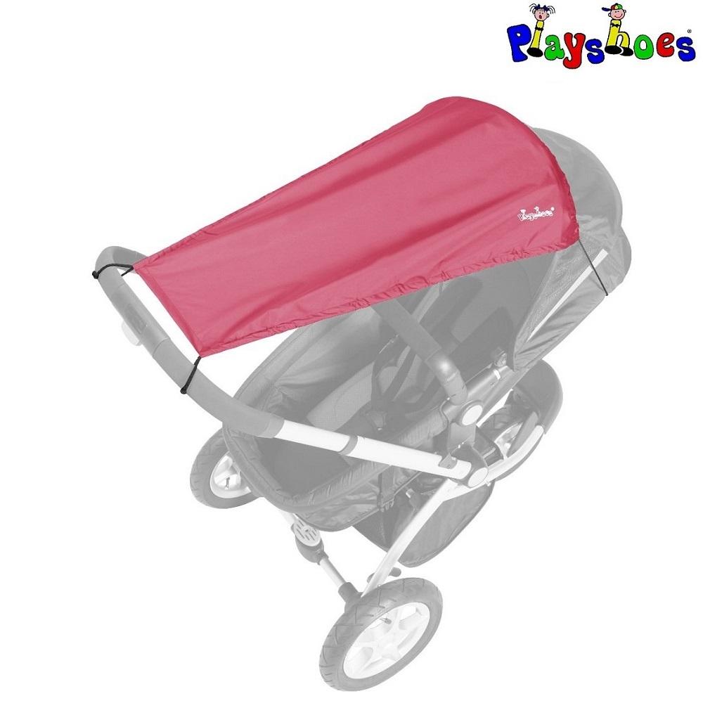 Solskydd barnvagn Playshoes Röd