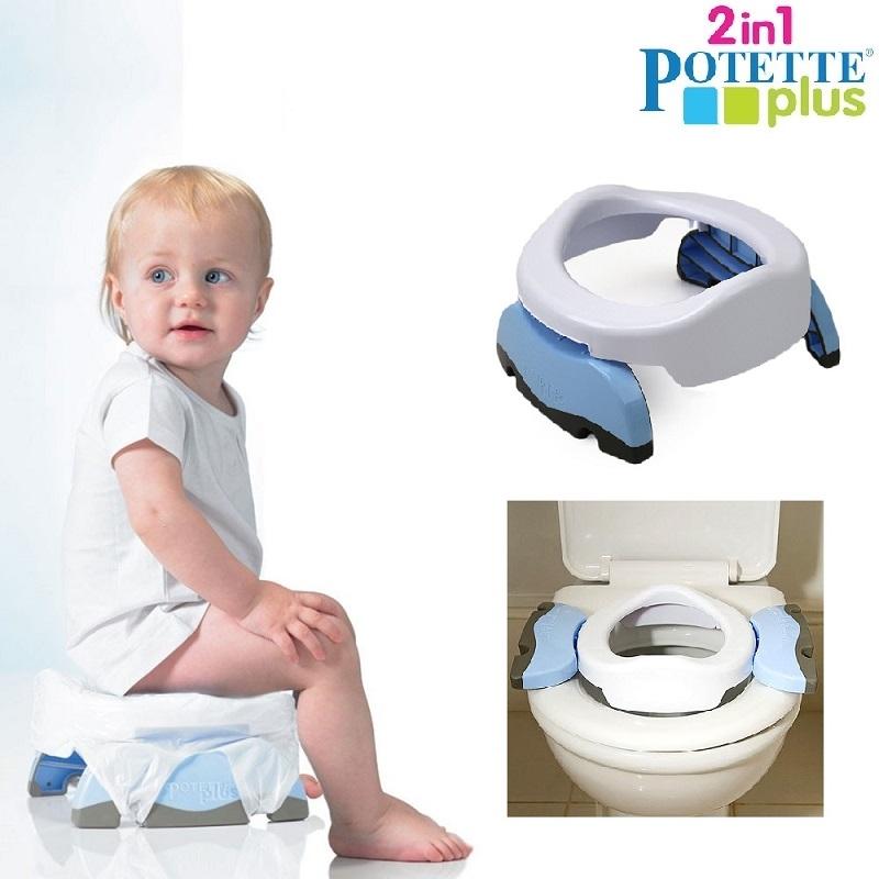 Resepotta Potette Plus Vit och ljusblå