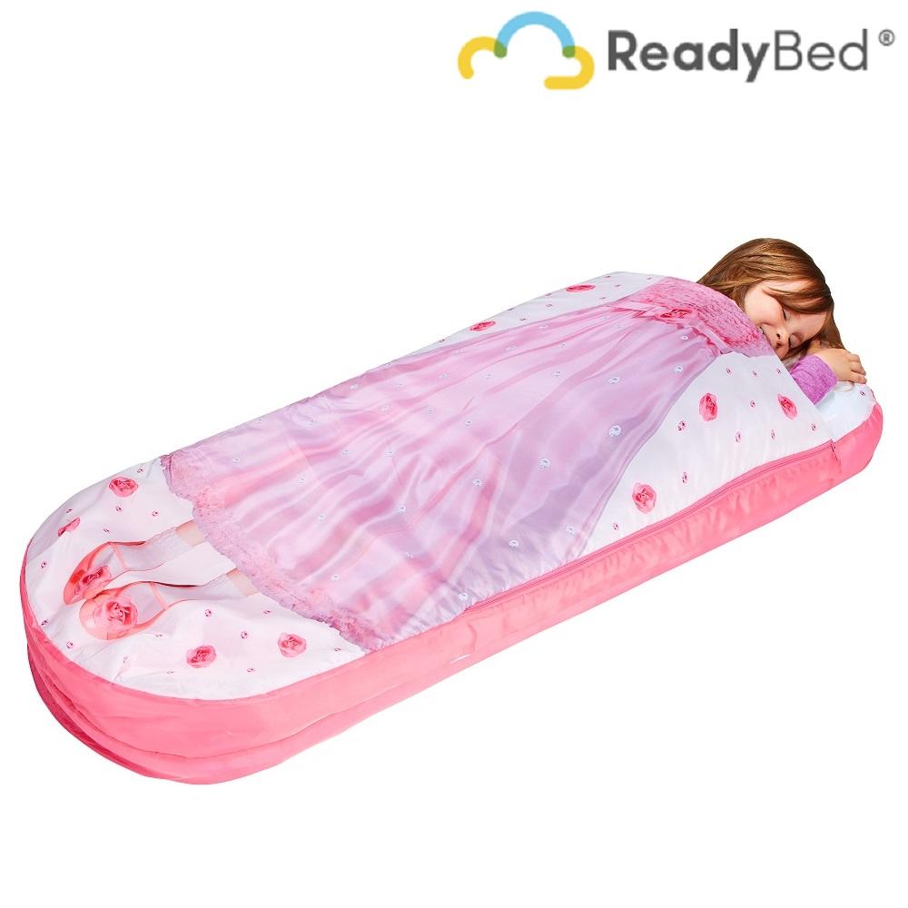 Resemadrass med lakan och kudde Readybed Junior Princess