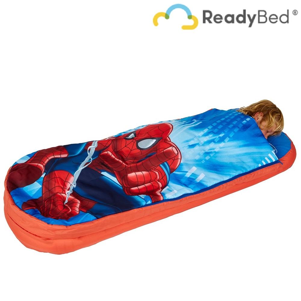 Resemadrass med lakan och kudde Readybed Junior Spiderman