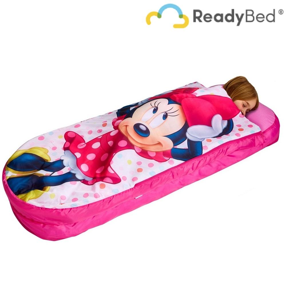 Resemadrass med lakan och kudde Readybed Junior Minnie Mouse