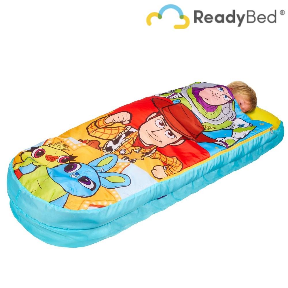 Resemadrass med lakan och kudde Readybed Junior Toy Story