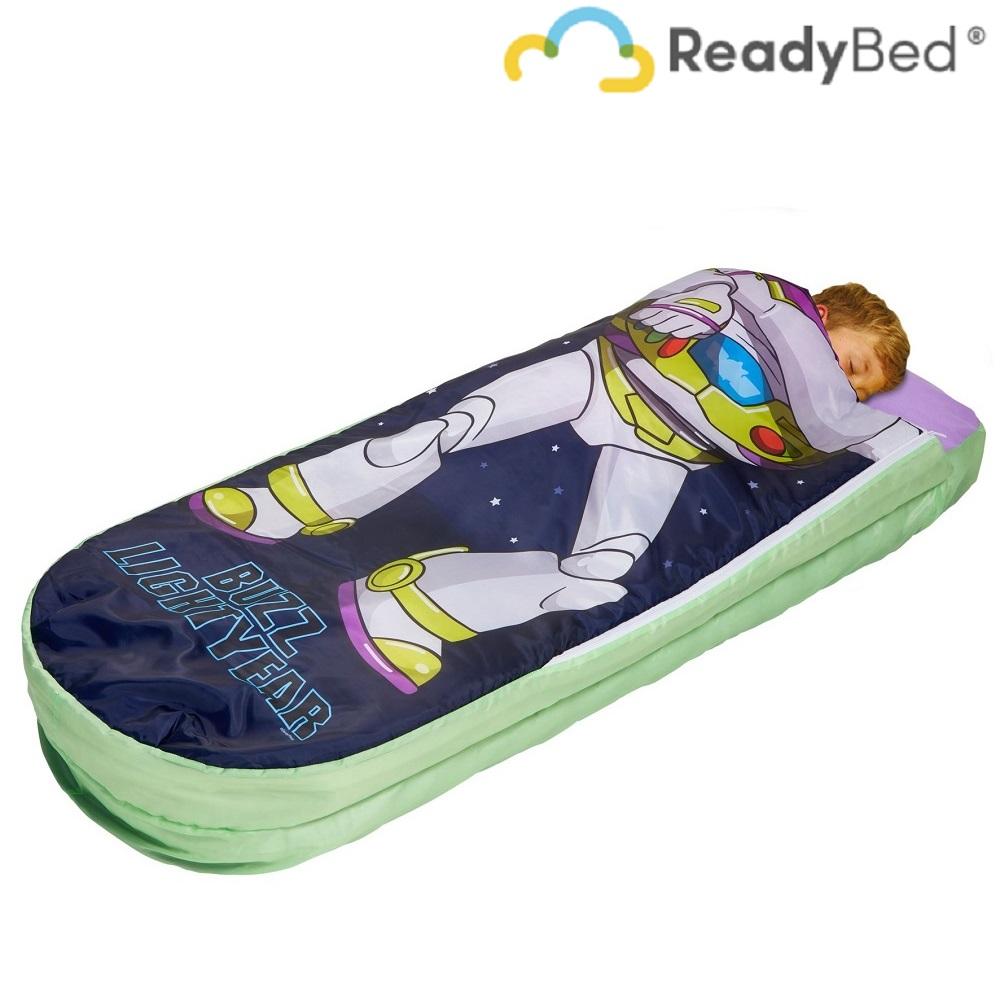 Resemadrass med lakan och kudde Readybed Junior Toy Story Buzz Lightyear