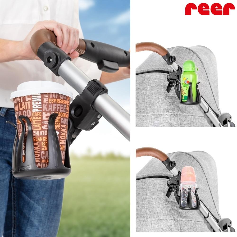 Mugghållare till barnvagn Reer Clip Go Cup