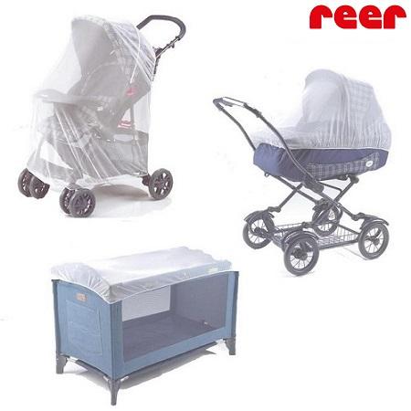 Myggnät till barnvagn och barnsäng Reer