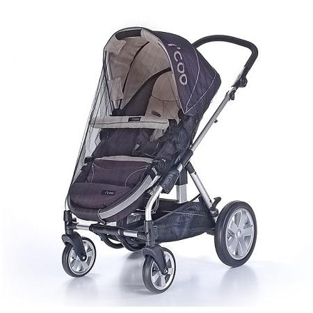 Myggnät till barnvagn och barnsäng universalt svart