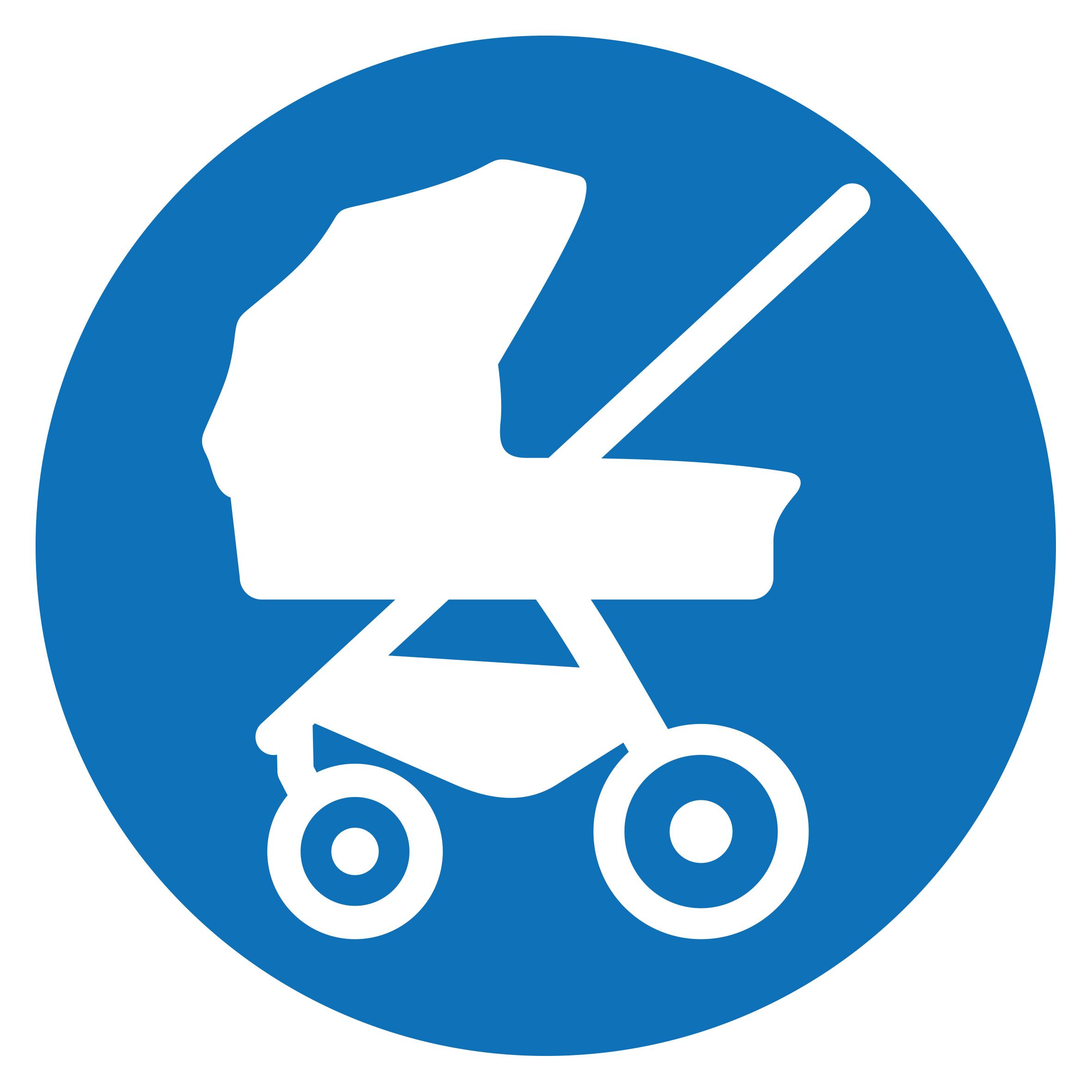 Använd Reer barnvagnskrok på barnvagnen