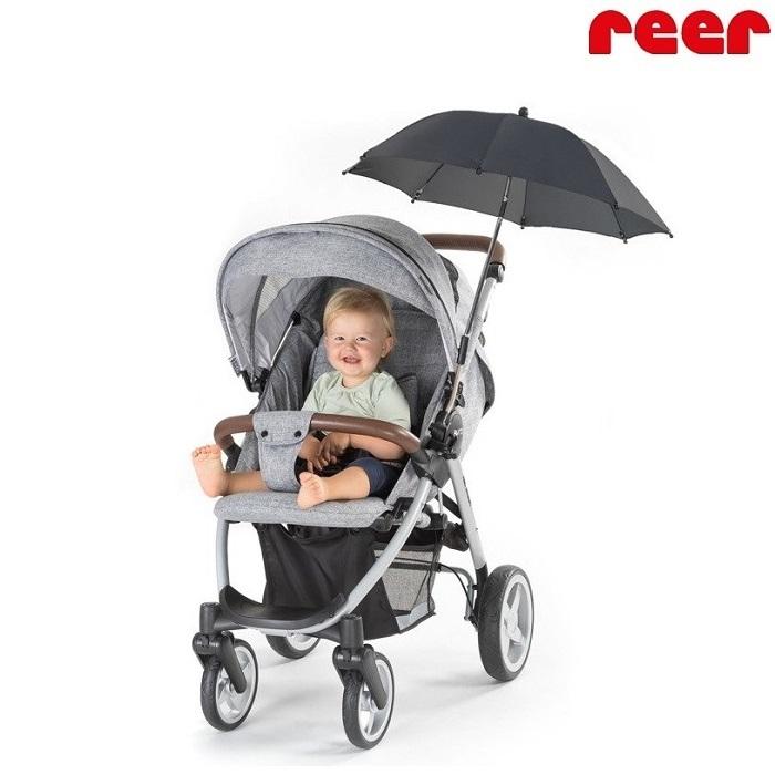 Barnvagnsparasoll Reer svart