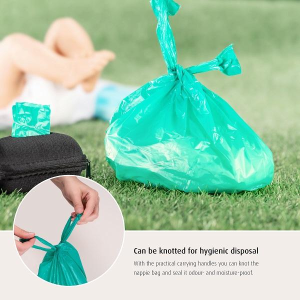 Blöjpåsar i hållare Reer Nappy Bag