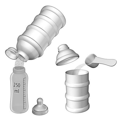 Mjölkpulverbehållare Reer med tre burkar