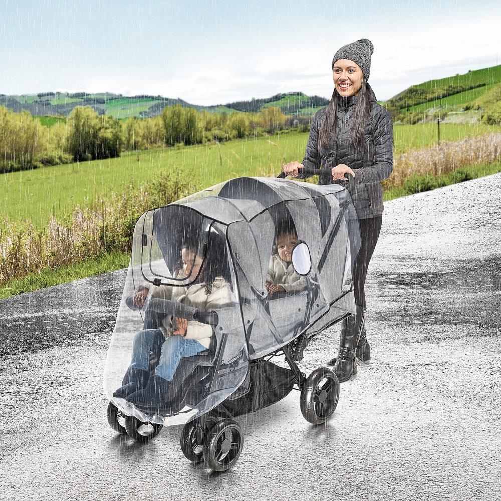 Regnskydd för syskon barnvagn RainCover Duo