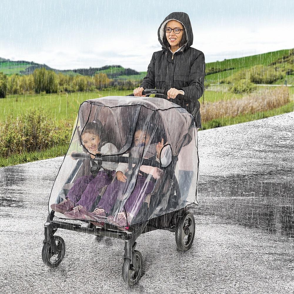 Regnskydd för tvilling barnvagn RainCover Twin