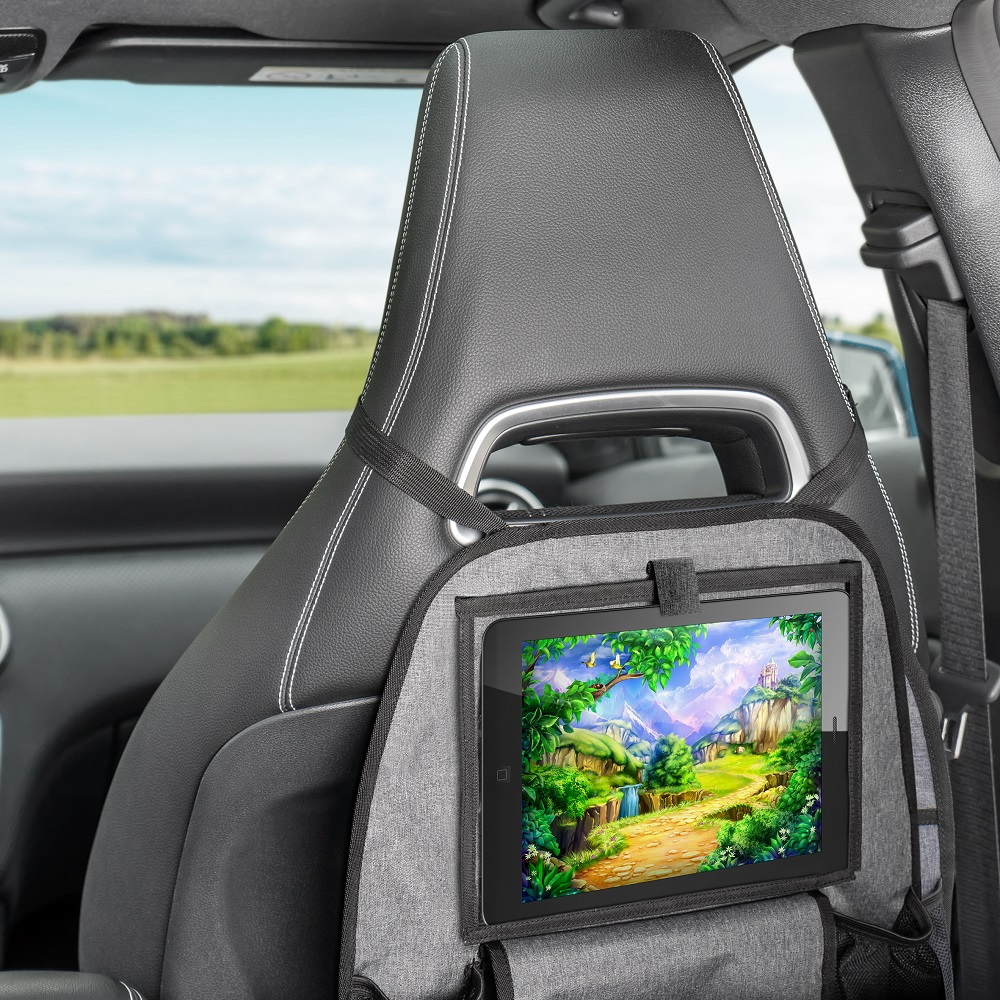 Sparkskydd med Ipadhållare bil Reer TravelKid