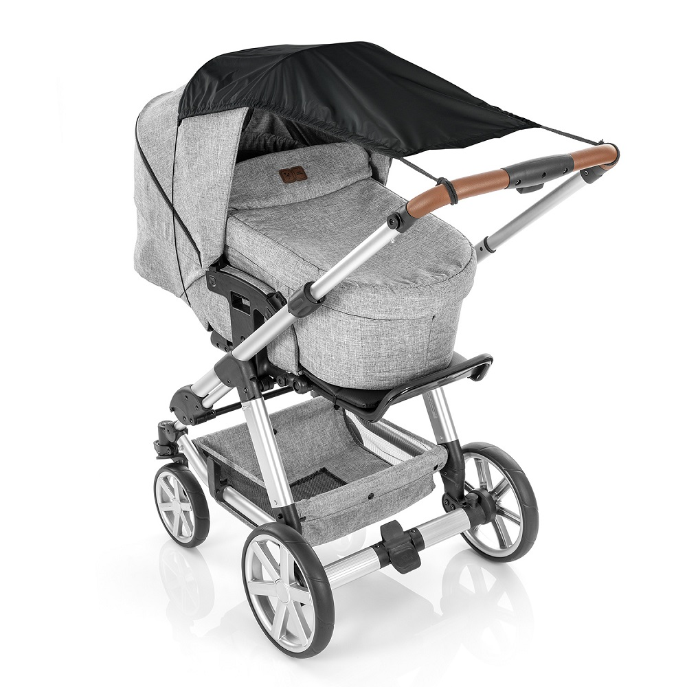 Reer barnvagnsgardin ShineSafe - Svart