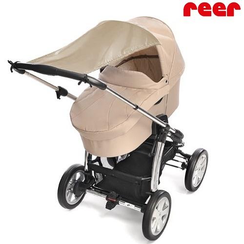 Solskydd barnvagn Reer sand
