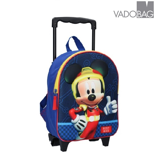 Resväska barn Musse Pigg 3D blå