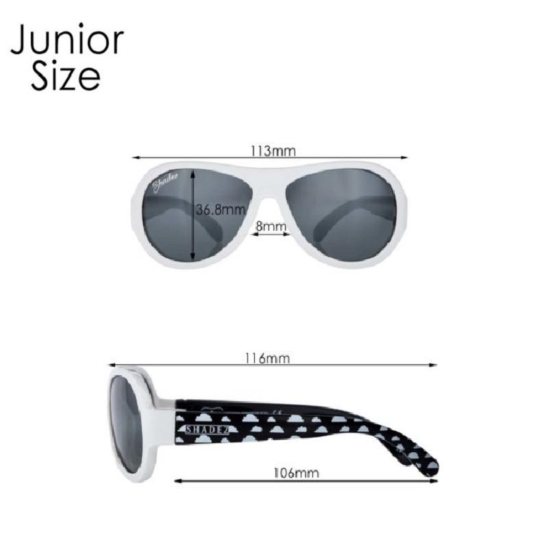 Måttangivelse för Shadez Junior solglasögon barn